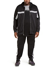 INC Men's Big & Tall Chest Stripe Zip-Front Hoodie & Pants, Created For Macy's
