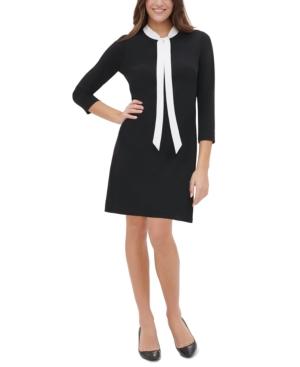 Tommy Hilfiger Dresses NECK-TIE A-LINE DRESS