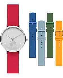 Women's Aaren Kulor Multicolored Silicone Strap Watch 36mm Gift Set