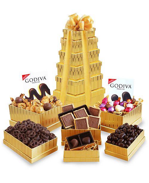 California Delicious Golden Godiva Gift Tower