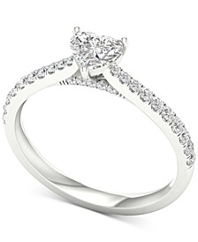Diamond Heart Engagement Ring (3/4 ct. t.w.) in 14k White Gold
