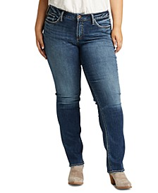 Trendy Plus Size Suki Straight-Leg Jeans