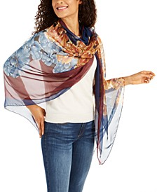 Opposites Attract Floral Oversized Scarf