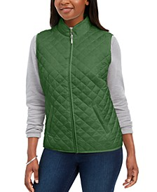 Petite Quilted Puffer Vest, Created For Macy's