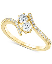 Diamond Two-Stone Bypass Ring (1/2 ct. t.w.) in 14k Gold