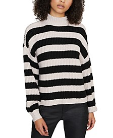 Sweet Tooth Striped Mock-Neck Sweater
