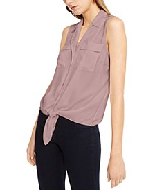 INC Sleeveless Tie-Front Top, Created For Macy's
