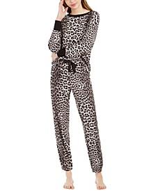 Printed Waffle Fleece Pajamas Set