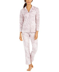 Printed Fleece Pajamas Set