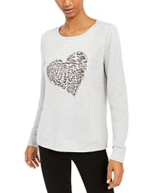INC Leopard-Heart Top, Created for Macy's
