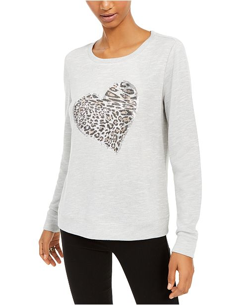 INC International Concepts INC Leopard-Heart Top, Created For Macy's