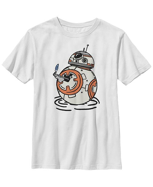 Star Wars Big Boys BB-8 A Light in The Darkness Short Sleeve T-Shirt