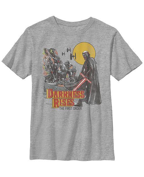 Star Wars Big Boys Kylo Ren The First Order Darkness Rises Short Sleeve T-Shirt
