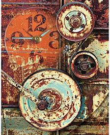"Creative Gallery Industrial Rusty Wheels 24"" x 20"" Canvas Wall Art Print"