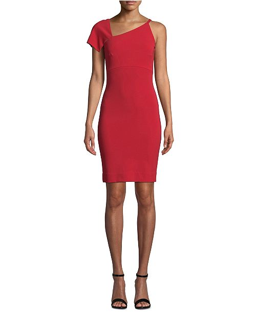 Nicole Miller One-Shoulder Asymmetrical Dress