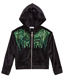 Big Girls Sequined Hoodie