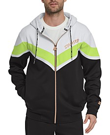 Men's Colorblocked Hooded Windbreaker