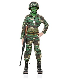 Toddler Boy Army-Inspired Jumpsuit Costume