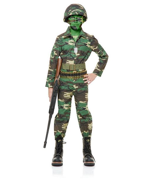 BuySeasons Toddler Boy Army-Inspired Jumpsuit Costume