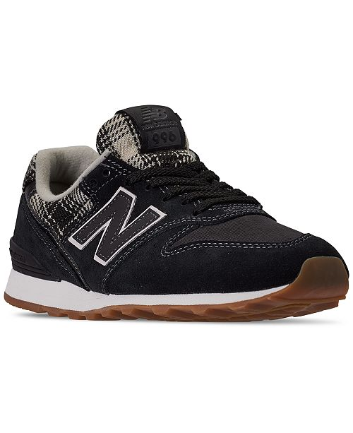 New Balance Women's 996 Plaid Casual Sneakers from Finish Line