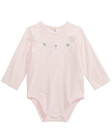 First Impressions Baby Girls Cat Bodysuit, Created For Macy's