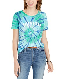 Cotton Tie-Dyed Logo T-Shirt