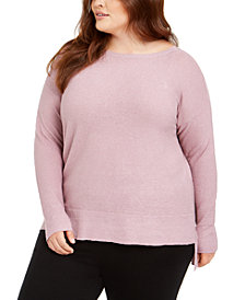 Eileen Fisher Plus Size Organic Scoop-Neck Sweater