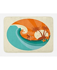Ride The Wave Bath Mat