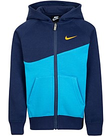 Little Boys Colorblocked Fleece Swoosh Hoodie