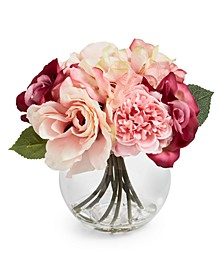 Valentine's Day Pink Rose Artificial Arrangement, Created For Macy's