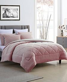 Fleece and Microfiber Reversible Twin/Twin XL Comforter Set