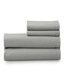 The Welhome Super Soft Washed Cotton Breathable Full Sheet Set
