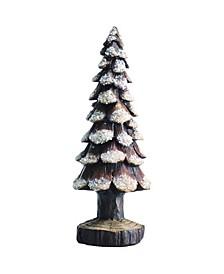 Resin Small White Christmas Snow Tree