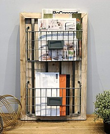 Two Tier Wall Mounted Magazine Holder