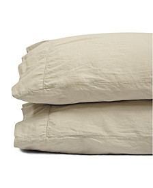 Jennifer Adams Pacific Relaxed Cotton Sateen Queen Pillowcases