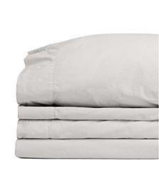 Jennifer Adams Relaxed Cotton Percale King Sheet Set