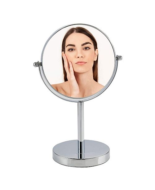 "OVENTE 6"" Dual Sided Tabletop Makeup Mirror with LED"