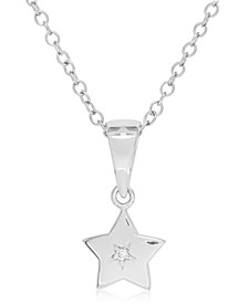Children's Diamond Accent Star Necklace in Sterling Silver