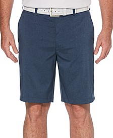 Men's Big and Tall Heathered Golf Shorts