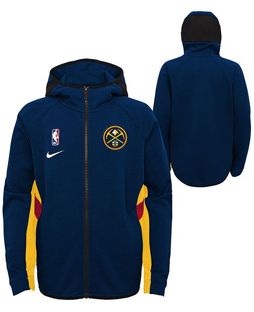Nike Big Boys Denver Nuggets Showtime Hooded Jacket