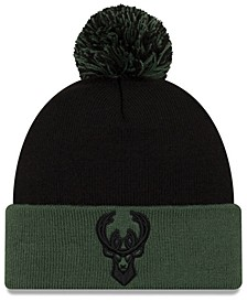 Milwaukee Bucks Black Pop Knit Hat