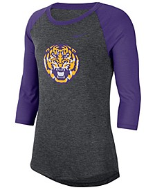 Women's LSU Tigers Logo Raglan T-Shirt