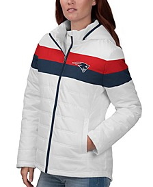 Women's New England Patriots Tie Breaker Polyfill Jacket