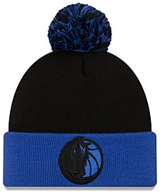 Dallas Mavericks Black Pop Knit Hat