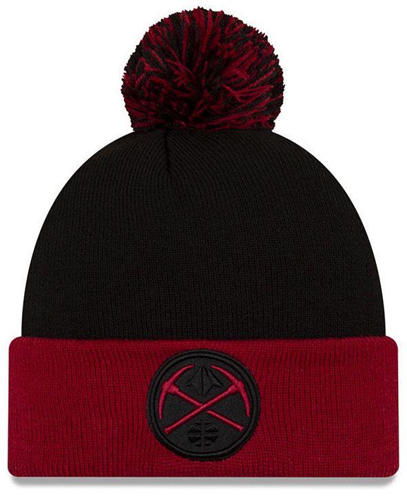 New Era Denver Nuggets Black Pop Knit Hat