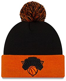 New York Knicks Black Pop Knit Hat