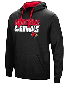 Men's Louisville Cardinals Poly Performance Hooded Sweatshirt