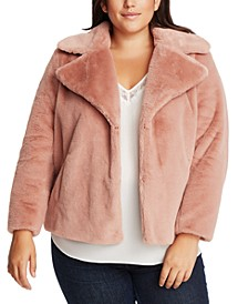 Trendy Plus Size Faux-Fur Jacket