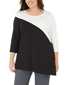 Plus Size Colorblock Tunic, Created for Macy's