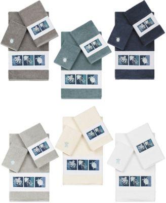 100% Turkish Cotton Ava 2-Pc. Embellished Hand Towel Set